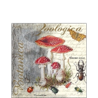 Servietten 25x25 cm - Fly Agaric And Beetle