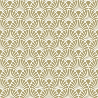 Servietten 25x25 cm - Art Deco Gold/White