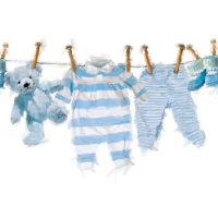 Servietten 25x25 cm - Baby Boy Clothes