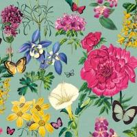 Servietten 25x25 cm - Botanical Florals Green