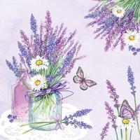 Servietten 25x25 cm - Lavender Jar Lilac
