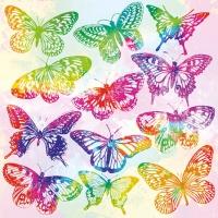 Servietten 25x25 cm - Aquarell Butterflies Mix