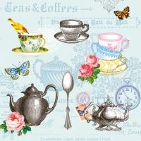 Servietten 25x25 cm - Tea Mix Blue