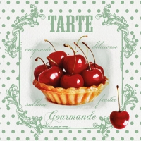 Servietten 25x25 cm - Red Cherries