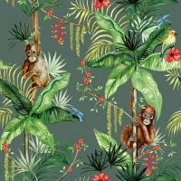 Servietten 25x25 cm - Orangutan Green