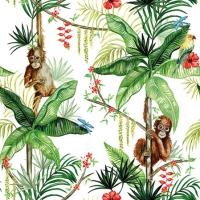 Servietten 25x25 cm - Orangutan White
