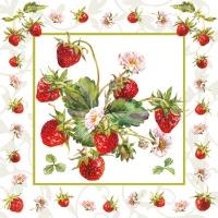 Servietten 25x25 cm - Fresh Strawberries