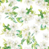 Servietten 25x25 cm - Cherry Blossom Grey