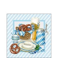 Servietten 25x25 cm - White Sausage