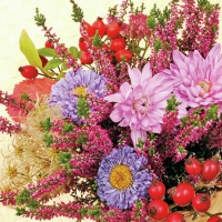 Servietten 25x25 cm - Autumn Flowers