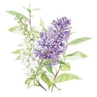 Servietten 25x25 cm - Lilac White