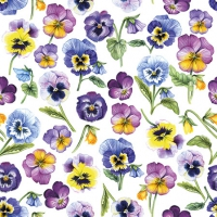 Servietten 25x25 cm - Pansy All Over