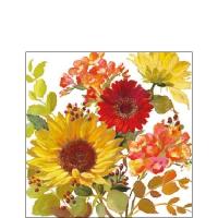 Servietten 25x25 cm - Sunny Flowers Cream
