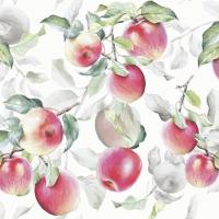 Servietten 25x25 cm - Fresh Apples White