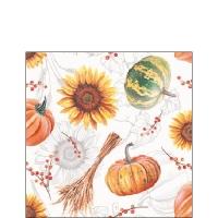 Servietten 25x25 cm - Pumpkins & Sunflowers