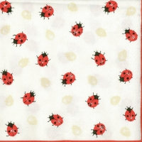 Lunch Servietten Ladybirds Creme