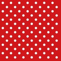 Servietten 33x33 cm - Dots Red