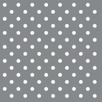 Servietten 33x33 cm - Dots Silver