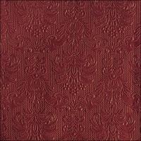 Servietten 33x33 cm - Elegance Bordeaux