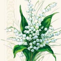 Servietten 33x33 cm - Süße weiße Glocken