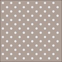 Servietten 33x33 cm - Dots Taupe