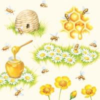 Servietten 33x33 cm - Bees