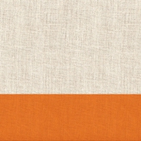 Servietten 33x33 cm - Leinen Orange