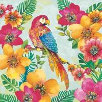Servietten 33x33 cm - Tropical Parrot