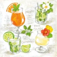 Lunch Servietten Four Cocktails