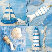 Servietten 33x33 cm - Love At Sea