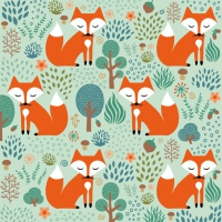 Servietten 33x33 cm - Smart Fox