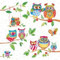 Servietten 33x33 cm - Owls In Summerland