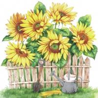Servietten 33x33 cm - Garden Of Sunflowers