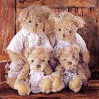 Lunch Servietten Family Teddybear