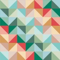 Servietten 33x33 cm - Geometric Triangle