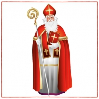 Servietten 33x33 cm - St. Nikolaus
