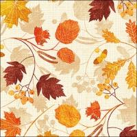 Servietten 33x33 cm - Herbstliche Anmut