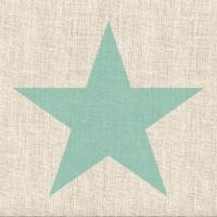 Servietten 33x33 cm - Sternenleinen Aqua