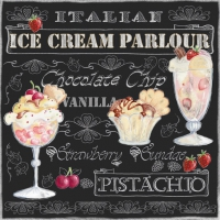 Servietten 33x33 cm - Ice Cream Black
