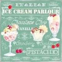 Lunch Servietten Ice Cream Green
