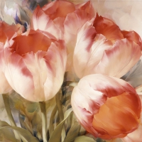 Servietten 33x33 cm - Tulips Dream