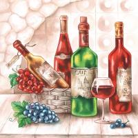 Servietten 33x33 cm - Wine Cellar
