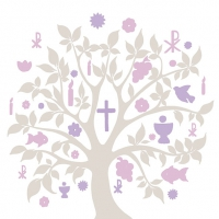 Lunch Servietten Communion Symbols Taupe