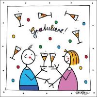 Lunch Servietten Gratuliere