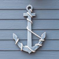 Servietten 33x33 cm - Wooden Anchor Blue