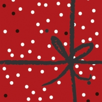 Servietten 33x33 cm - Wrapping Red