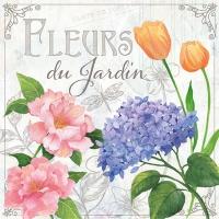 Servietten 33x33 cm - Fleurs De Jardin