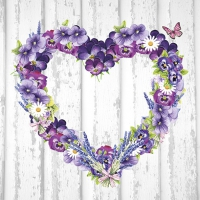 Servietten 33x33 cm - Purple Heart