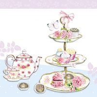Servietten 33x33 cm - High Tea Blau