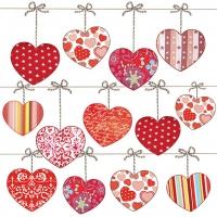 Lunch Servietten Hearts On Wire